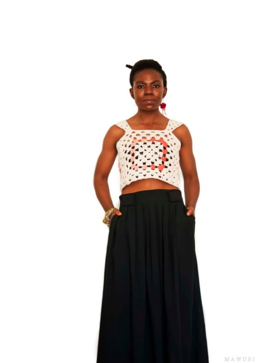 Adenta Granny Square Crop Top - Mawusi
