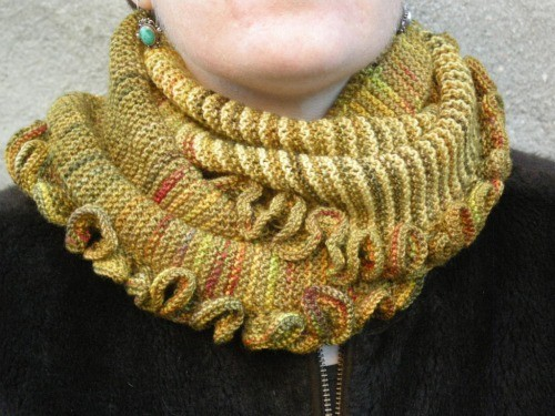 Harvest Cowl and Circle Scarf with Ruffles - ModernFibre