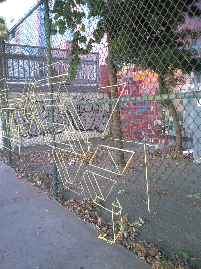 yarn fence - Haight-Ashbury