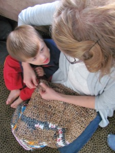 teaching william to crochet - hijennybrown