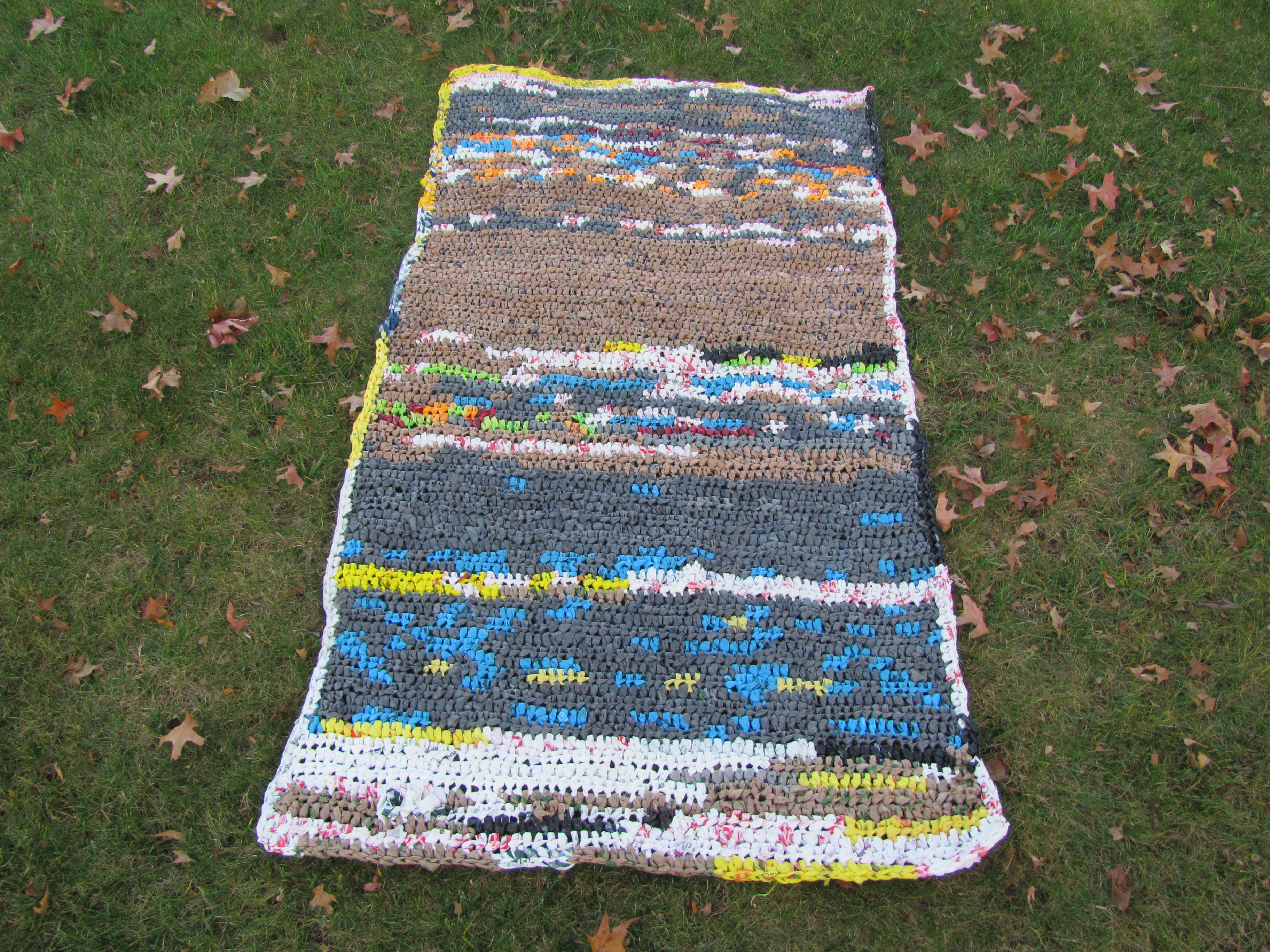 Crocheting Mats From Plastic Bags : Hooking for Good - Crochet Plastic Mat - Hi, Jenny Brown