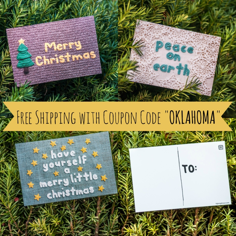 "Hi, Jenny Brown Postcard Sale - Use Code ""OKLAHOMA"" for free shipping - hijennybrown.etsy.com"