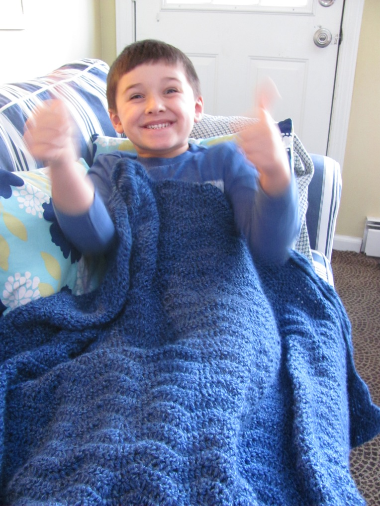 Hi, Jenny Brown - crochet ripple blanket for Binky Patrol